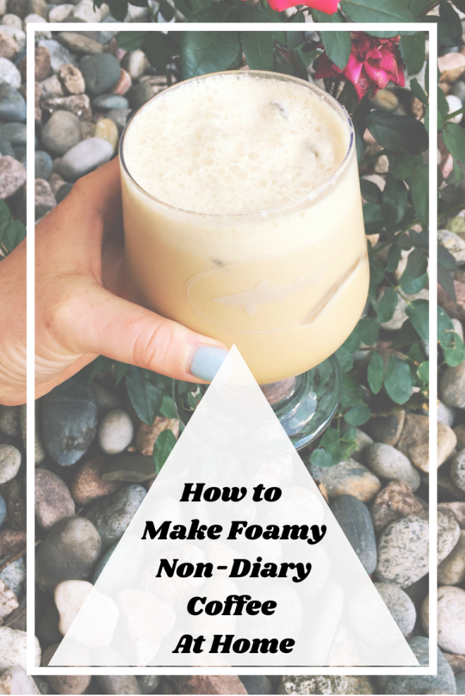 creamy frothy cold brew coffee made with nondairy milk